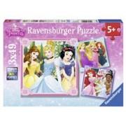 Puzzle Printese Disney, 3X49 Piese
