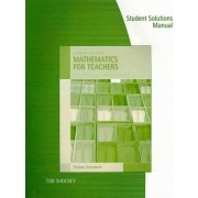 Student's Solutions Manual for Sonnabend's Mathematics for Elementary Teachers, 4th by Thomas Sonnabend