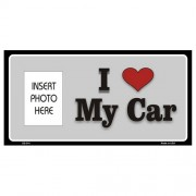 """USA Novelty Photo Insert Plate - I Love My Car """