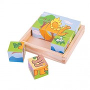 Bigjigs Toys BJ513 Dinosaur Cube Puzzle