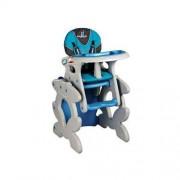 Caretero Krzesełko do karmienia+stoliczek Primus niebieskie