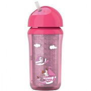 Phillips Avent Insulated Straw Cup 9oz - PINK (Pack of 1)