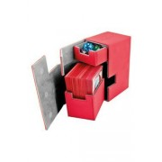 Ultimate Guard Boîte Pour Cartes Flip N Tray Deck Case 80+ Taille Standard Xenoskin Rouge