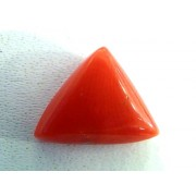 3.18 Carat Natural Italian Red Coral Triangle Gemstone
