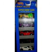 1995 HOTWHEELS SUPER SHOW CARS 5 CAR GIFT PACK