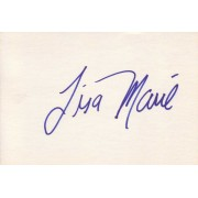 Lisa Marie Autographed Index Card