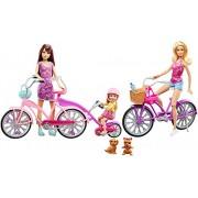Barbie Sisters Camping Fun Bike Set includes 3 Dolls + 2 Bikes / Barbie Hermanas Camping Fun Bicicleta Ciclo Conjunto - Skipper & Chelsea Muñecas