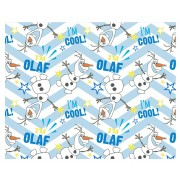 Frozen fleece deken Olaf patroon