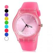 Heren Dames Uniseks Modieus horloge Polshorloge Vrijetijdshorloge Kwarts Kleurrijk Silicone Band VrijetijdsschoenenZwart Wit Blauw Roze