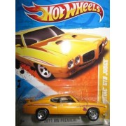 "Hot Wheels 2011 '' '70 PONTIAC GTO JUDGE"" HW PREMIERE '11 -11 of 50 - 11/244 Yellow with 'The Judge' Decal on front quarterpanel . Has Spoiler on Trunk Lid by Mattel/Hot Wheels"