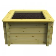 1m x 1m, 27mm Wooden Raised Bed 697mm High