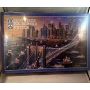 1000 Pieces Brooklyn Bridge Old NY Skyline Puzzle by F.X. Schmid