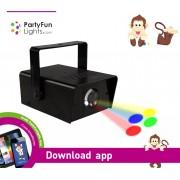863894 Faro mini proiettore disco 7 led PARTY FUN LIGHT effetto discoteca