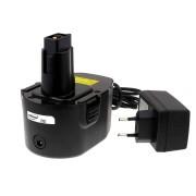 Black & Decker Akku-Bohrschrauber CD14CBK Li-Ion inkl. Ladegerät : 14,4V - 2000mAh/28,8Wh - Ersatzakku