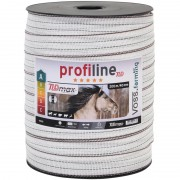 VOSS.farming Electric Fence Tape 40mm, 200m, 10x0.25 TLD, White-Black