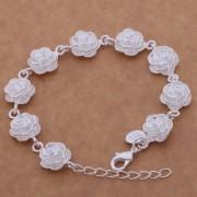 Bratara eleganta argint cu trandafiri Sara