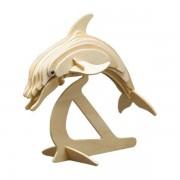 Puzzle eco 3D din lemn Delfin Pebaro