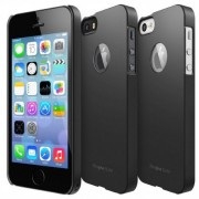 Husa protectie spate Ringke Slim pentru iPhone 5/5s (Negru) + Folie protectie