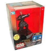 Star Wars Movie Series Episode 1 The Phantom Menace 10 Inch Tall Figure Interactive Talking Bank - DARTH MAUL with Motion Sensor Combat Actions and Original Voice