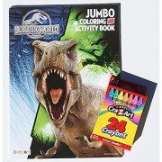Jurassic World Jumbo Coloring and Activity Book with Cra-Z-Art Crayons