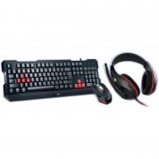 Kit tastatura si mouse Genius KMH-200 + Mouse KMH-200 + Casti HS-G500 Black