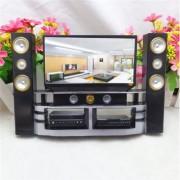 Hi-Fi TV Cabinet Set Combo For Barbie Doll House Furniture Living Room Dollhouse Decoration