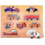 Puzzled Transportation 2 Wooden Peg Puzzle