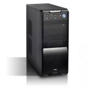 Advance Black Burst - Case per PC in acciaio con alimentatore 480 W ATX/Micro-ATX/ITX, nero