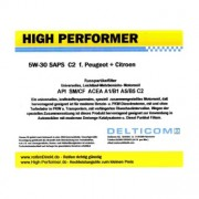 High Performer 5W-30 SAPS C2 Peugeot+Citroen 5 Litre Can