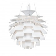 Lámpara artic 60 cms de diámetro fabricada en aluminio de color blan
