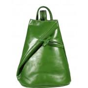 NovaKabelka.cz zelený kožený batůžek Nilde Verde zelený kožený batůžek Nilde Verde