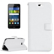 Huawei Y6 Pro Crazy Horse Texture Horizontal Flip Leather Case with Magnetic Buckle & Holder & Card Slots & Wallet & Photo Frame(White)