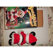 Santa Mickey Mouse Fully Poseable 10 Figure - Includes Greeting Card & Bell