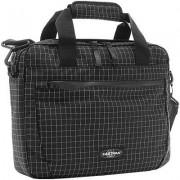 EASTPAK Herren Tasche Laptoptasche Microfaser schwarz-weiß kariert schwarz,weiß