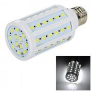 E27 12W LED de maiz de luz blanca 6450K 60-SMD - blanco + amarillo (110 ~ 130V)
