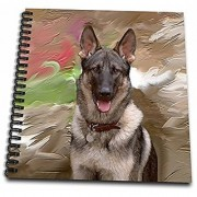 3dRose db_3937_1 German Shepherd Drawing Book 8 by 8-Inch