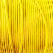 Cordon de cuero de 1,5 mm color amarillo (precio por 50cm)