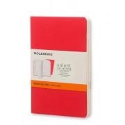 Moleskine Volant Journal (Set of 2), Pocket, Ruled, Geranium Red, Scarlet Red, Soft Cover (3.5 X 5.5)