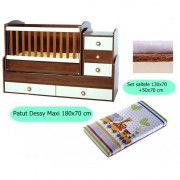 Set patut + salteluta Dessy Maxi Brown-White