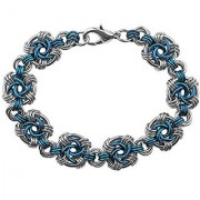 Weave Got Maille Lapis Swirls Chain Maille Bracelet Kit
