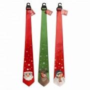 Novelty MUSICAL Christmas Tie - Plays Jingle Bells - Santa / Reindeer / Snowman by Occasions 4U