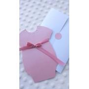 Invitatie de botez Lady Boo Pink