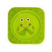 Lorelli mintás tányér Zöld békás