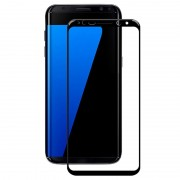 Samsung Galaxy S8+ Amorus Tempered Glass Screen Protector - Black