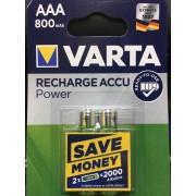 Baterije Varta punjive R03 AAA 800mAh B2