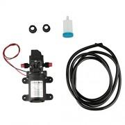 HQMaster Diaphragm Pump DC 12V 70W 6L/Min 130PSI Self Priming High Pressure Water Pump Silent Running