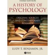 A History of Psychology by Jr. Ludy T. Benjamin