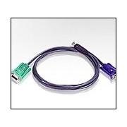 ATEN 2L-5202U :: KVM кабел, HD15 M + USB type A M >> SPHD15/18 M, 1.8 м