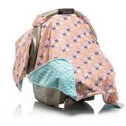 Elonka Nichole Baby Girl Car Seat Canopy Beautiful Butterfly