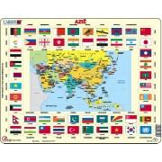 Puzzel Azië met vlaggen | Larsen